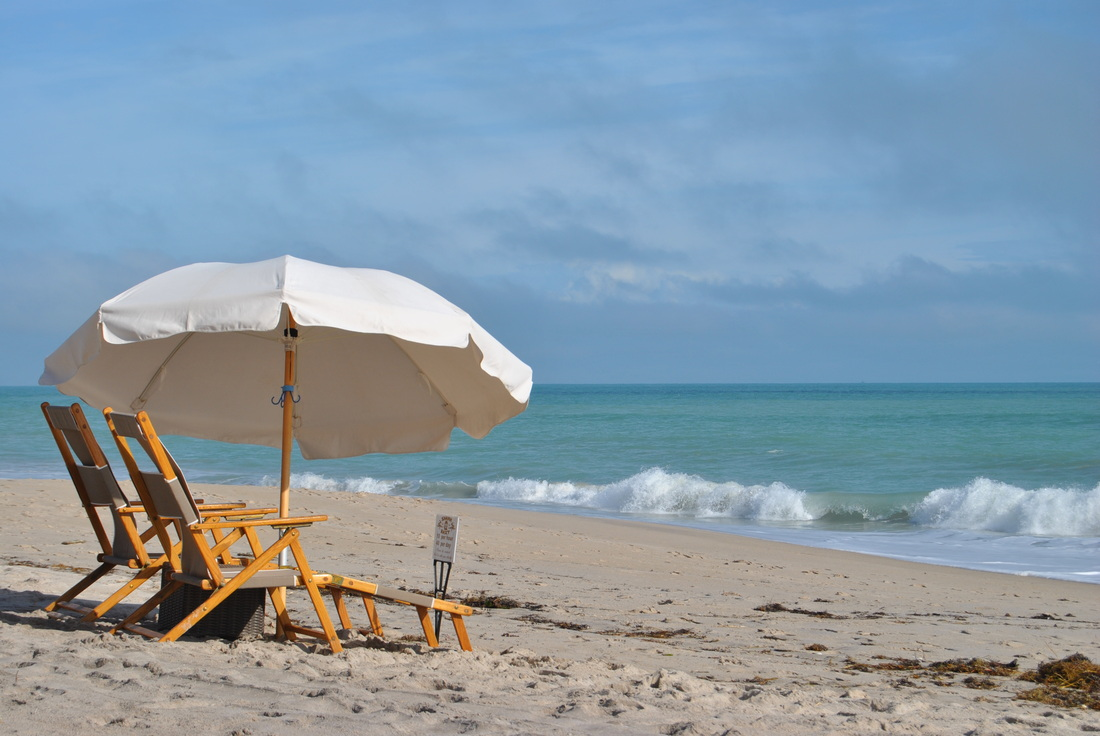 On The Beach Umbrellas Chairs And Other Gear Als In Vero Florida Shark Bait